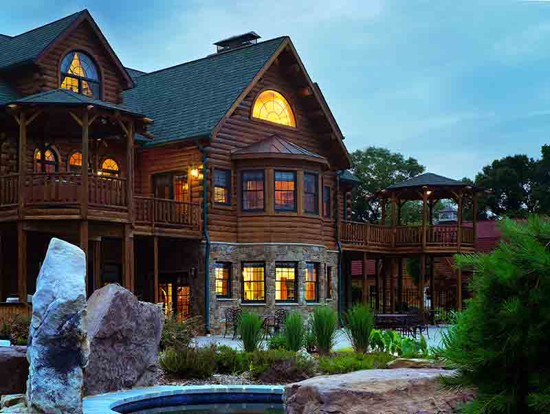 Exterior--Hennessey Log Home from Katahdin