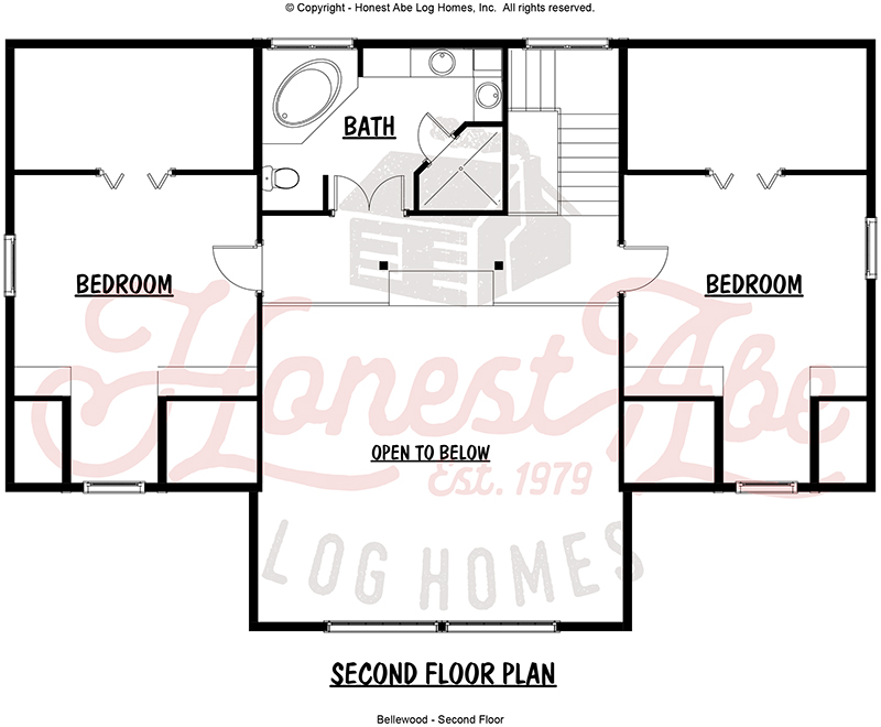 bellewood log home floor plan by honest abe 2