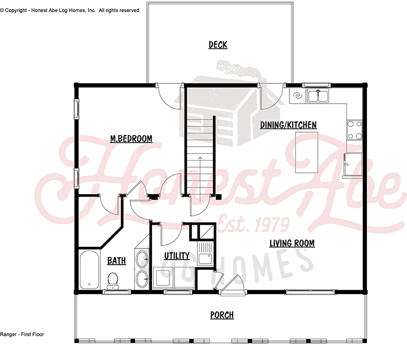 ranger log home floor plan by honest abe