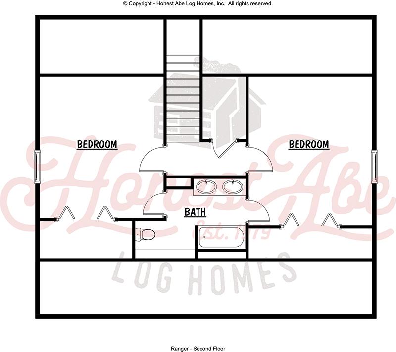 ranger log home floor plan by honest abe 2