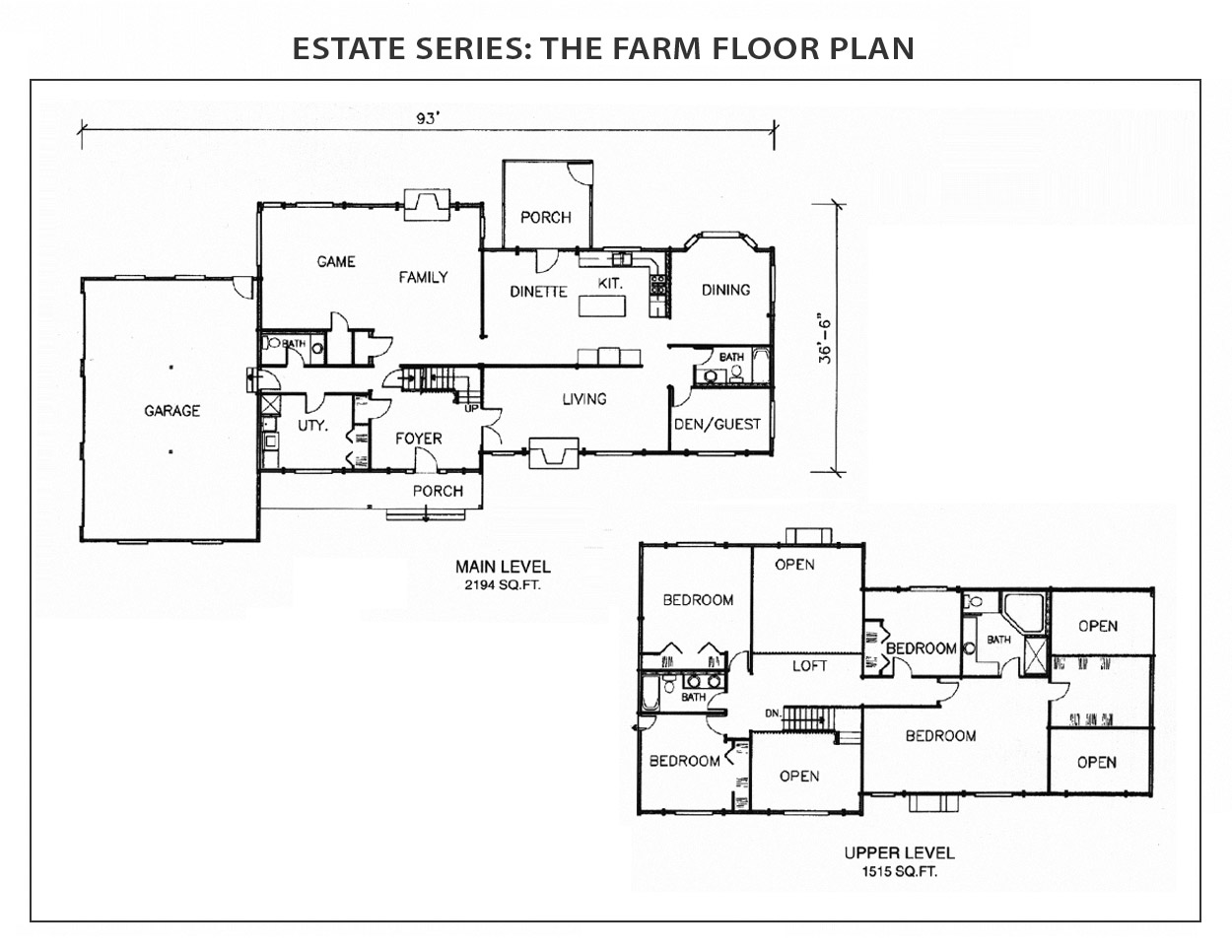 the farm log home floor plan from international homes of cedar previous next
