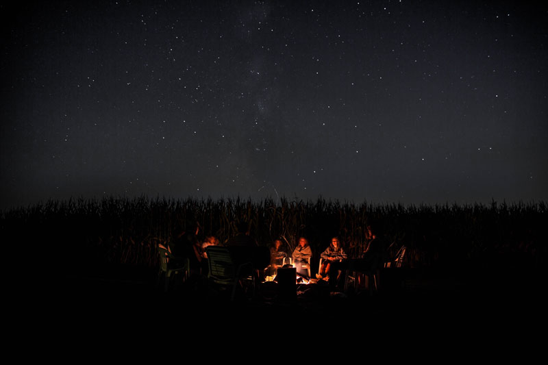 Campfire at the Cabin