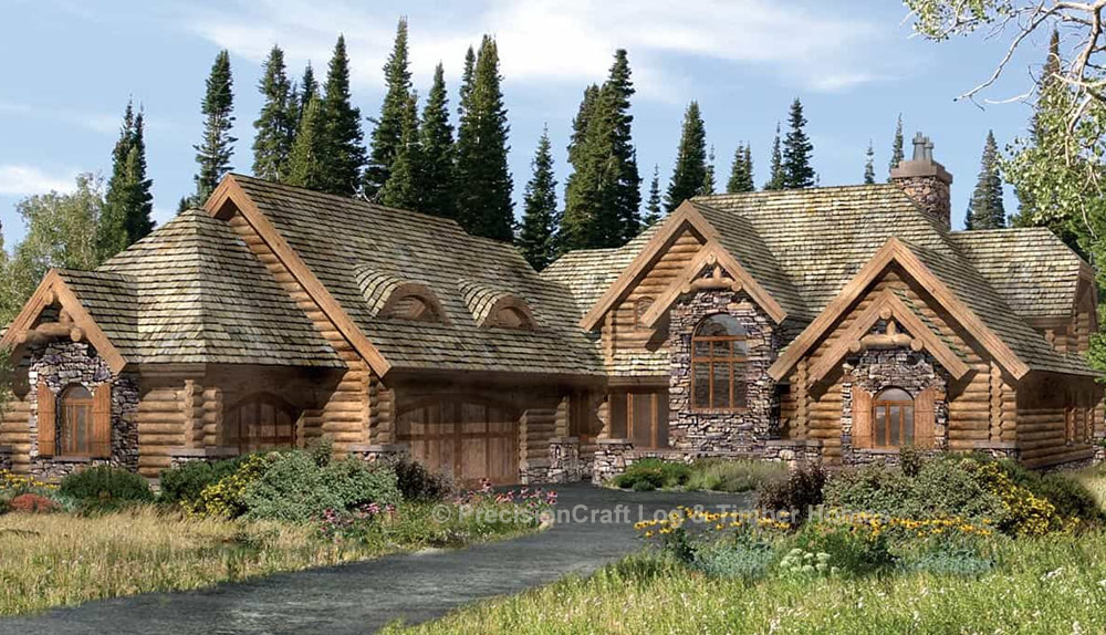 Lafayette log home plan by precisioncraft log timber homes for House plans lafayette la