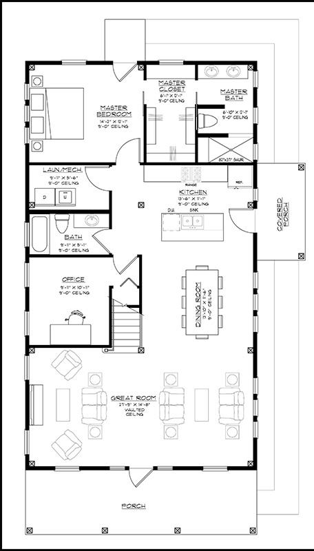 Langfit Home Plan from OakBridge Timber Framing