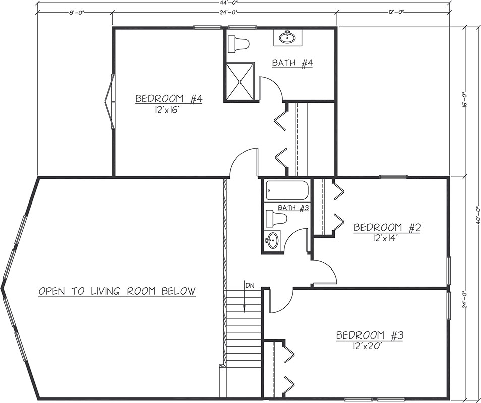 Chalet Timber Frame Floor Plan by Logangate Homes