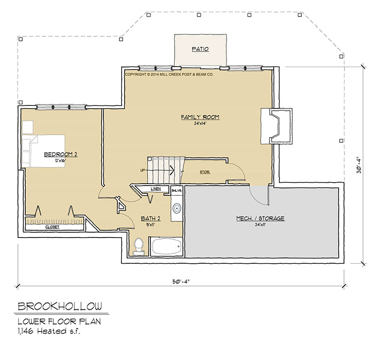 Brookhollow Timber Floor Plan By Mill Creek Post Beam