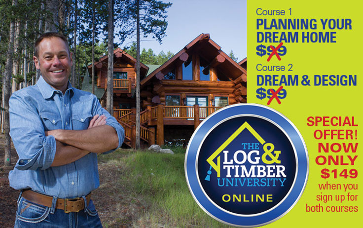 Build Your Dream Home With Log Timber Online University