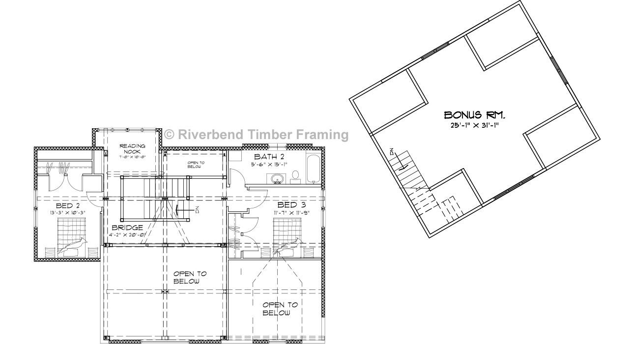 Hamilton Timber Home Plan by Riverbend Timber Framing