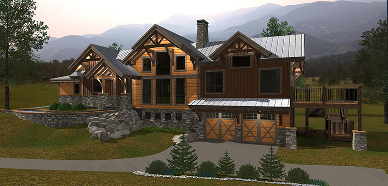Tiny Home Designs: Rustic Redstone Timber Home Plan From Canadian Timberframes