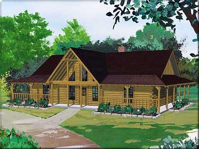 Stockton Log Home Plan By Satterwhite Log Homes