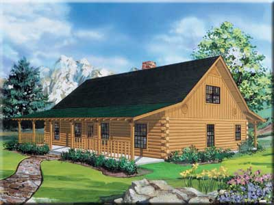Texan Home Plan With A Loft By Satterwhite Log Homes