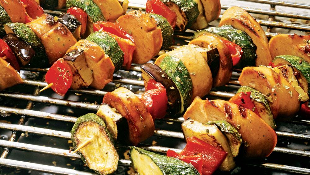 Sausage & Veggie Skewers