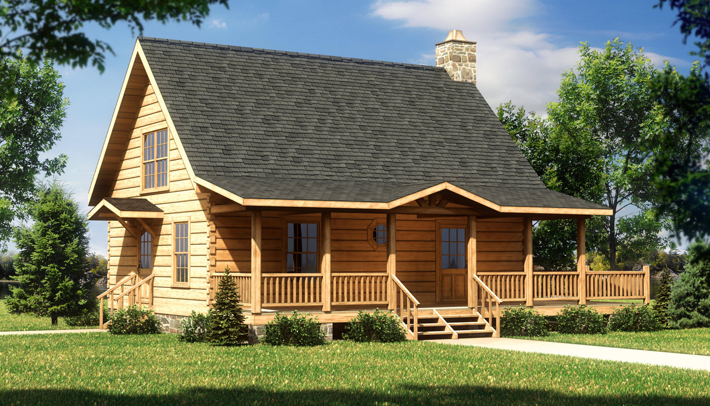 Alpine ii log home plan by southland log homes for Building a cabin floor