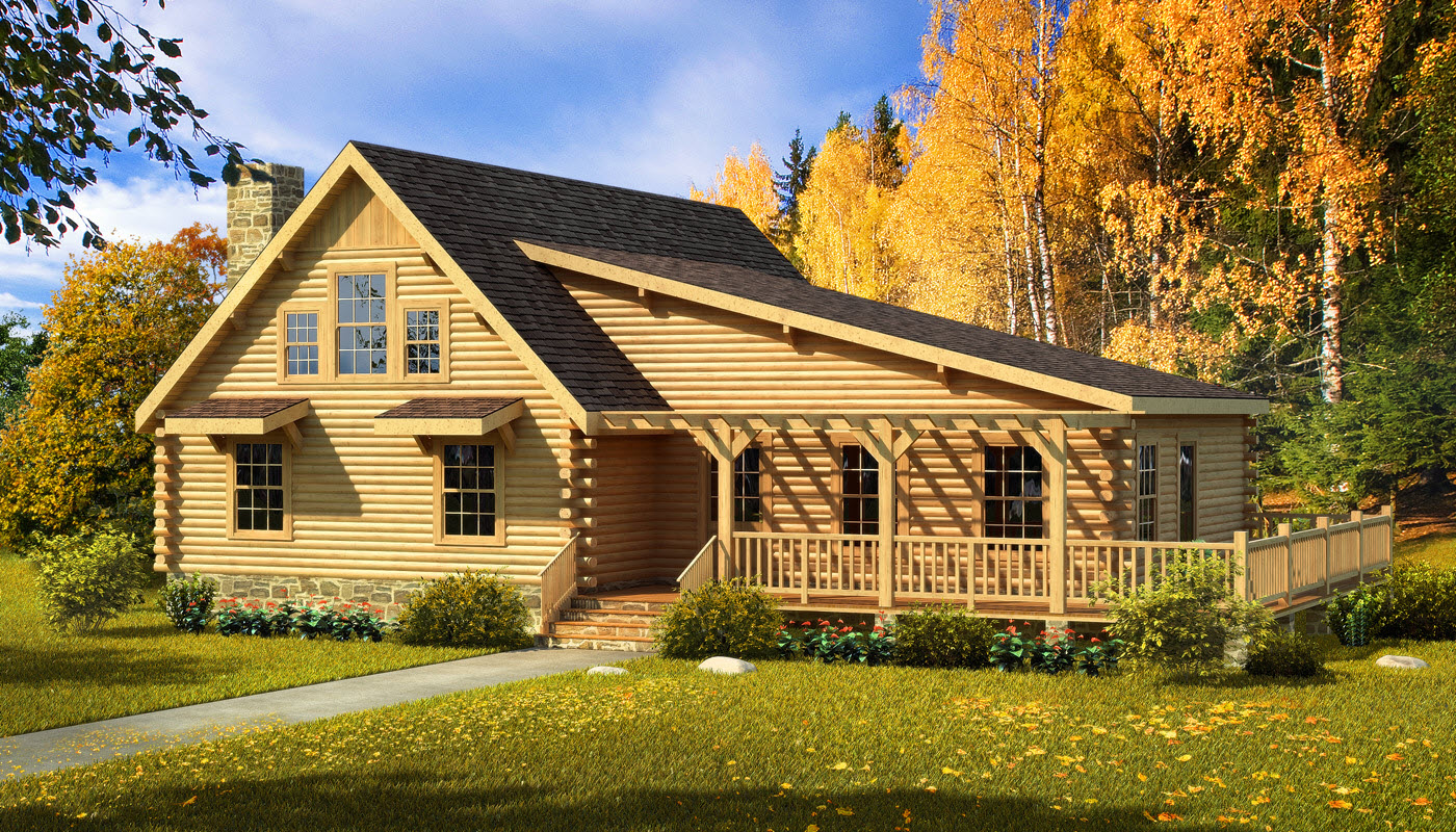 Chatham log home plan by southland log homes for Chatham house plans