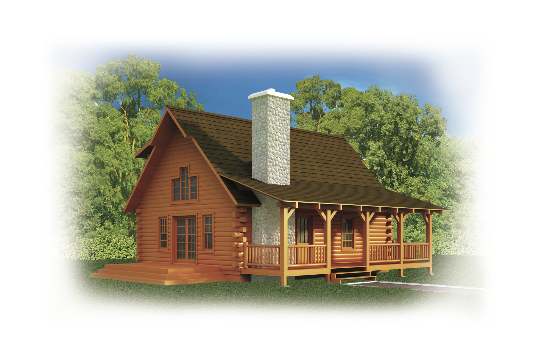 Strongwood Log Homes Floor Plans: Whitetail Log Cabin Plan By Strongwood Log Homes