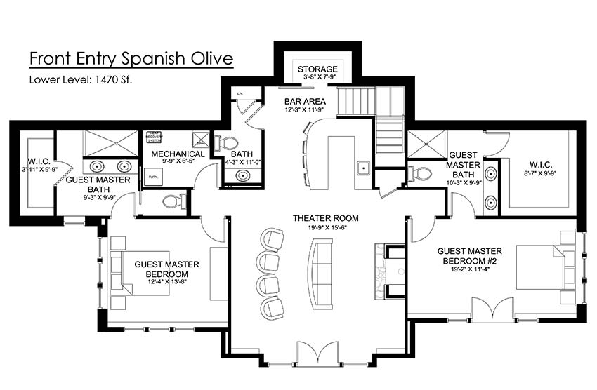 Spanish Olive Timber Floor Plan by Timberbuilt