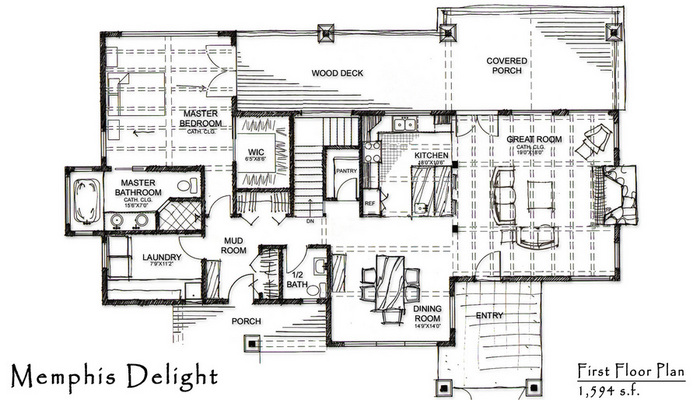 Memphis Delight Home Plan By Timberbuilt