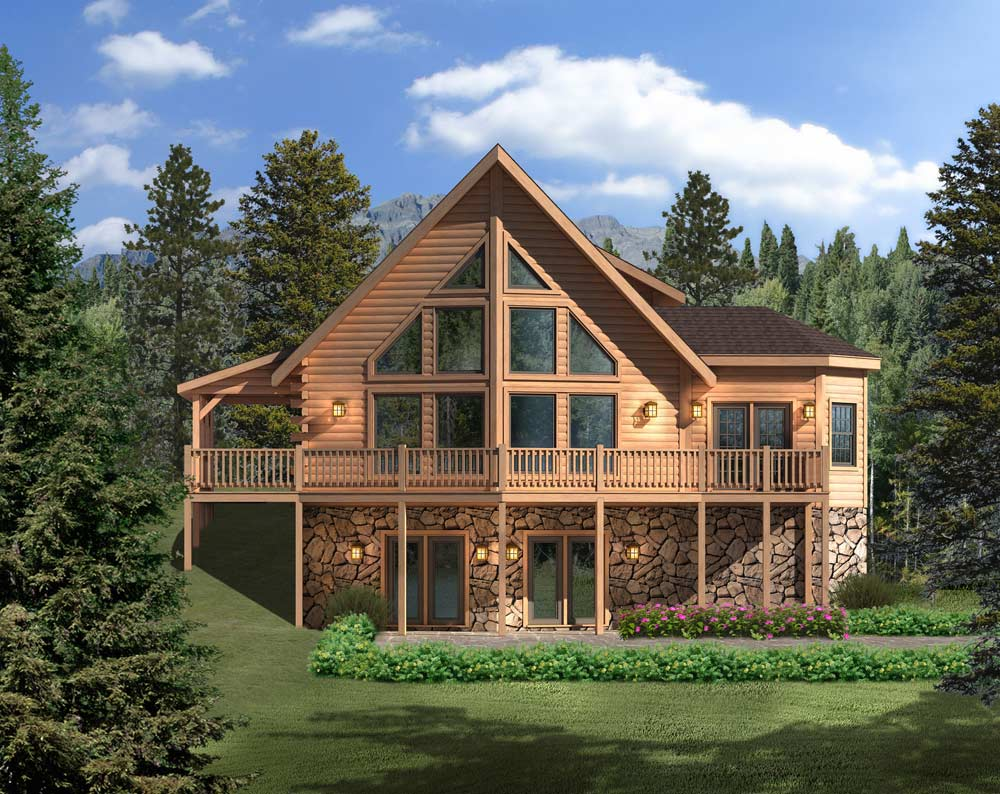 Aspen hill ii log home floor plan by timberhaven log for Aspen homes floor plans