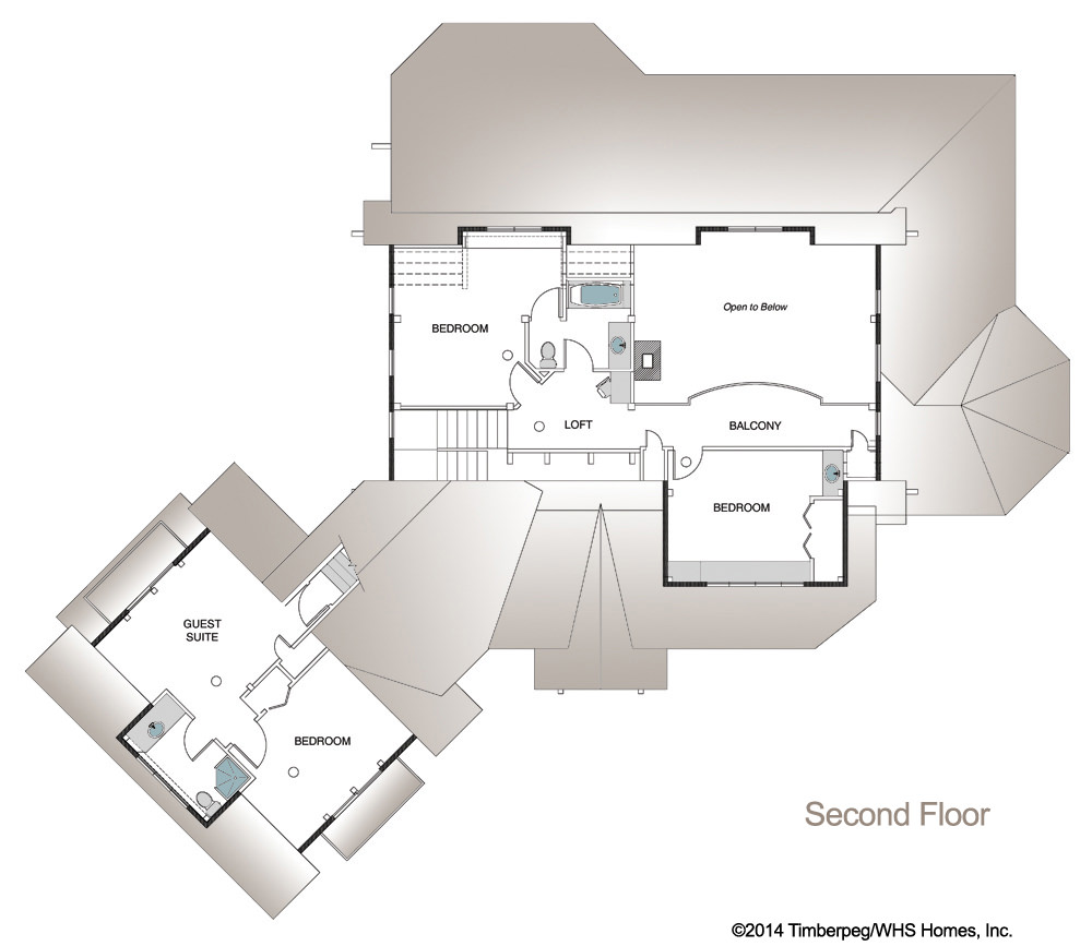 Lassen timber frame floor plan by timberpeg for Timber home floor plans