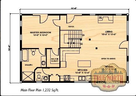 The aspen viii log home floor plan by true north log homes for True homes floor plans