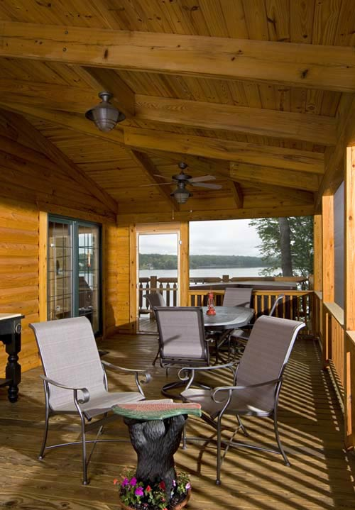 Against all odds planning a lakeside cabin for Log home decks