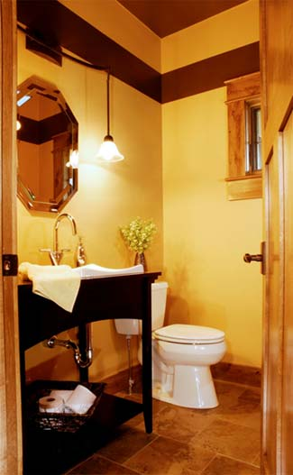 How to add personal decor style to your interior design - Half bathroom decor ideas ...