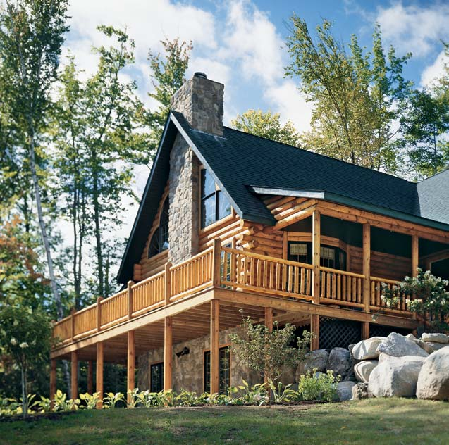 Planning a mountainside log home in new hampshire for Mountainside home plans