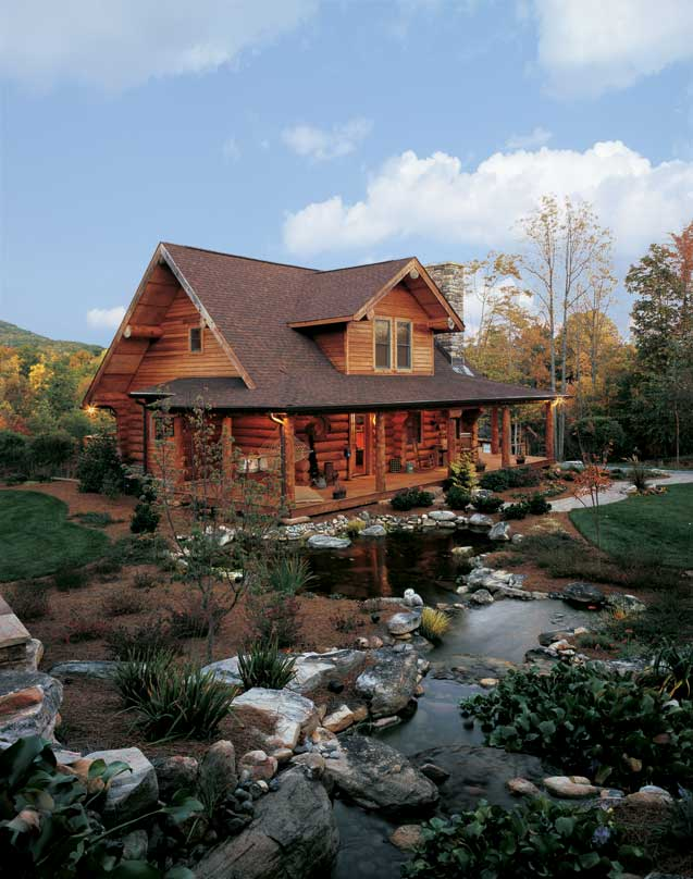 A Log Cabin In North Carolina Perfect For Outdoor Log Home Living