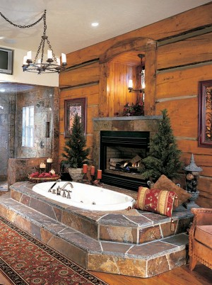 Master Bath Fireplace