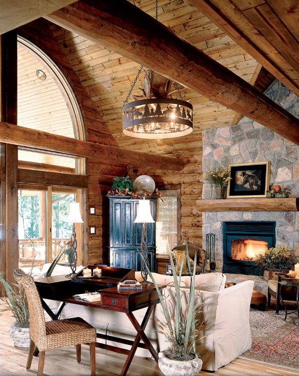 Peeled log home look bing images for Www loghome com