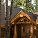 Handcrafted Log Home Entrance