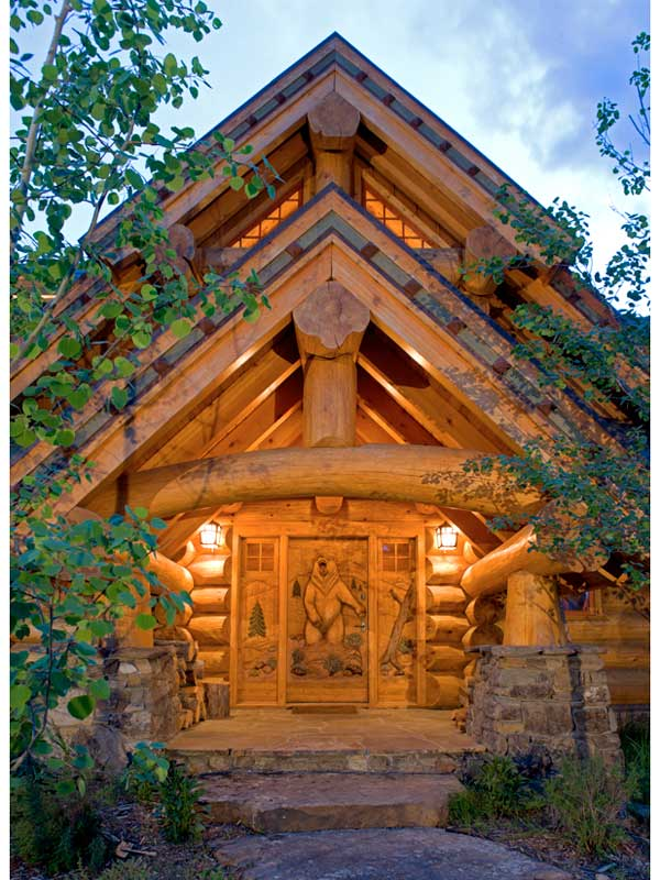 a handcrafted montana vacation log home