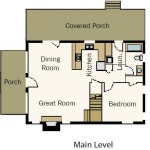 Hybrid Vacation Cabin Main Level Plan