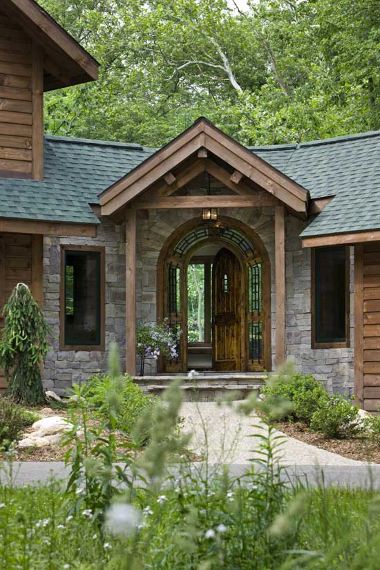 A Doors Inspires A Woodsy Log Home