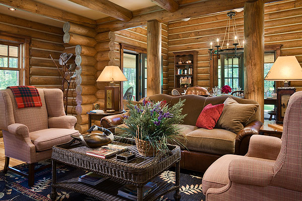 Modern Log Cabin Modern Log Cabin With Authentic Look