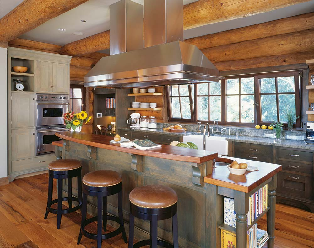 beautiful Kitchen Cabinets For Log Cabins Part - 16: Cabin Life
