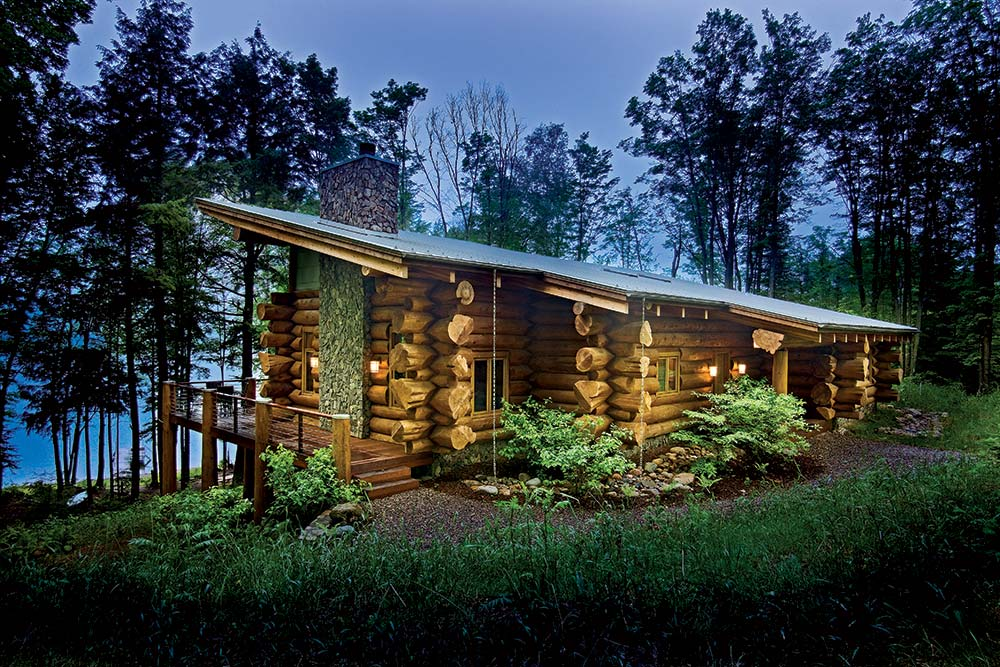 Rustic Meet Modern – Modern Log Home Floor Plans
