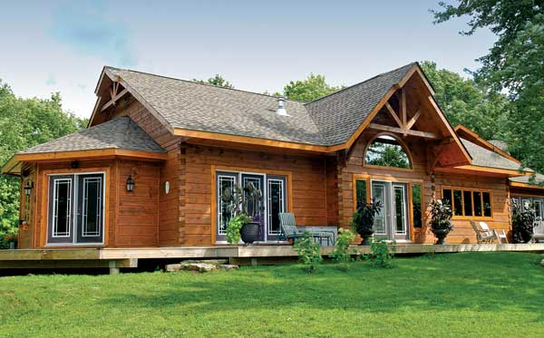 Exterior: A Timber Frame Lakeside Log Cabin