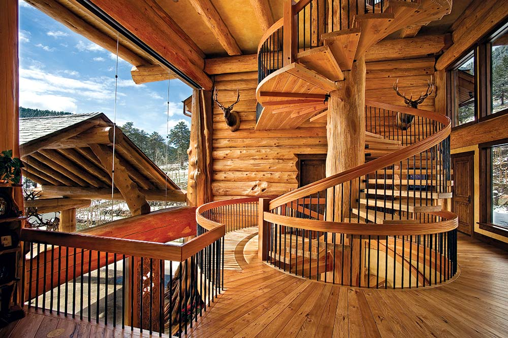 A majestic log home built with big logs for Big log homes