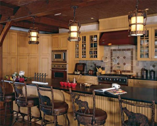 Timber Home Kitchen Island Design Ideas