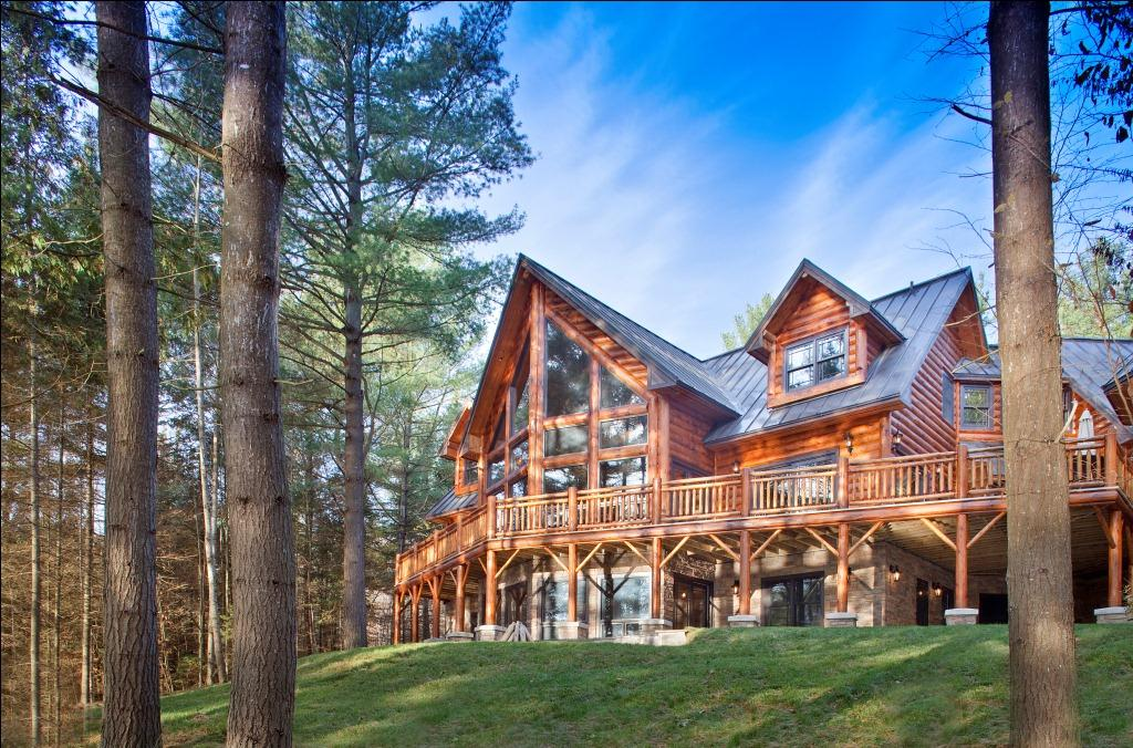 Wisconsin log homes for Log homes plans canada