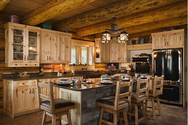 Building Your Dream Kitchen: Montana Log Homes