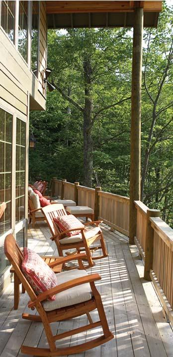 Timber Home Porch