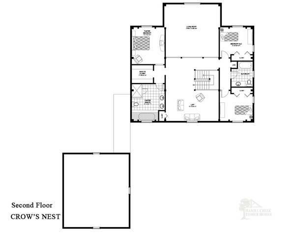 Hamill creek timber homes crowsnest home plan for Crows nest house plans