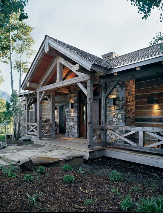 rustic renewal in a reclaimed timber home