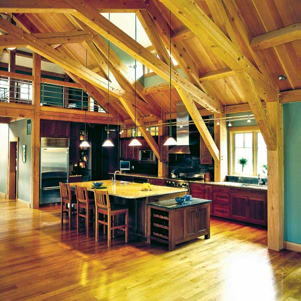 kitchen design for timber houses