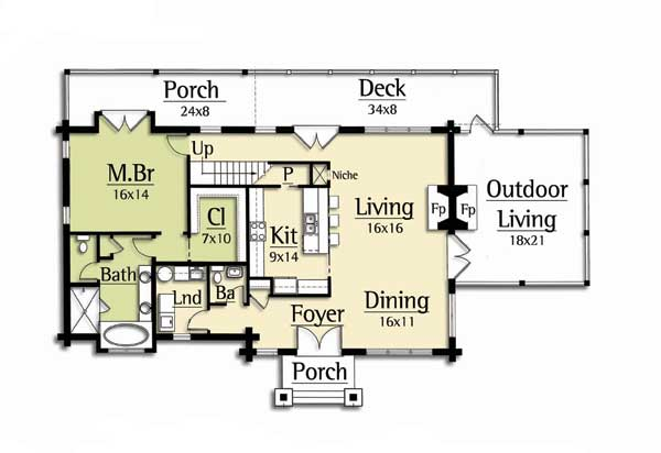 Pockets and offices on pinterest for Moss creek home designs