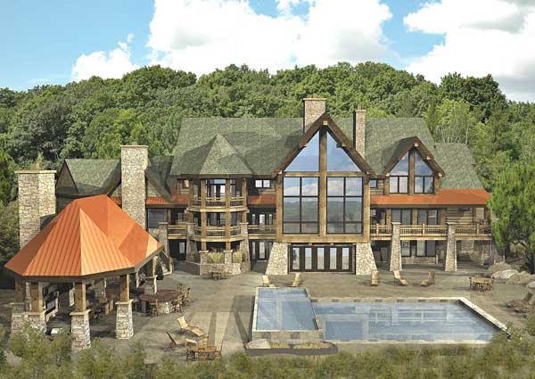 Kensington Luxury Lodge Floor Plan By Wisconsin Log Homes