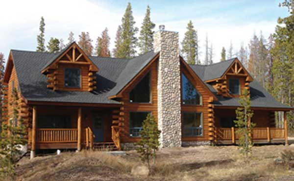 Torreys peak log home plan by modern log homes for Modern log home plans