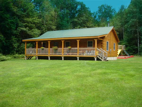Franklin log home plan by coventry log homes inc for Home planners inc house plans